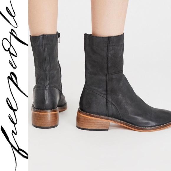Leather Leo Ankle Boot Nib